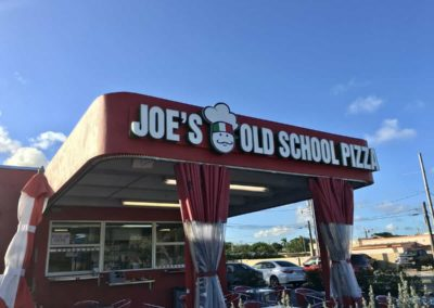 Joes old school pizza